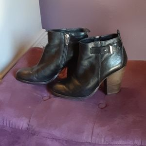 Coach Hewes Black Leather Booties